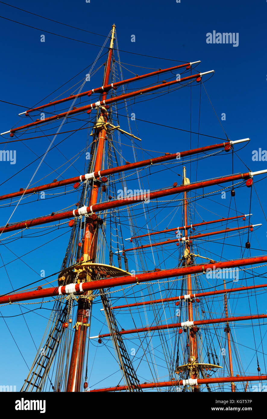 RRS Discovery, Royal Research Ship at Discovery Point, Dundee, Scotland, UK - Stock Image
