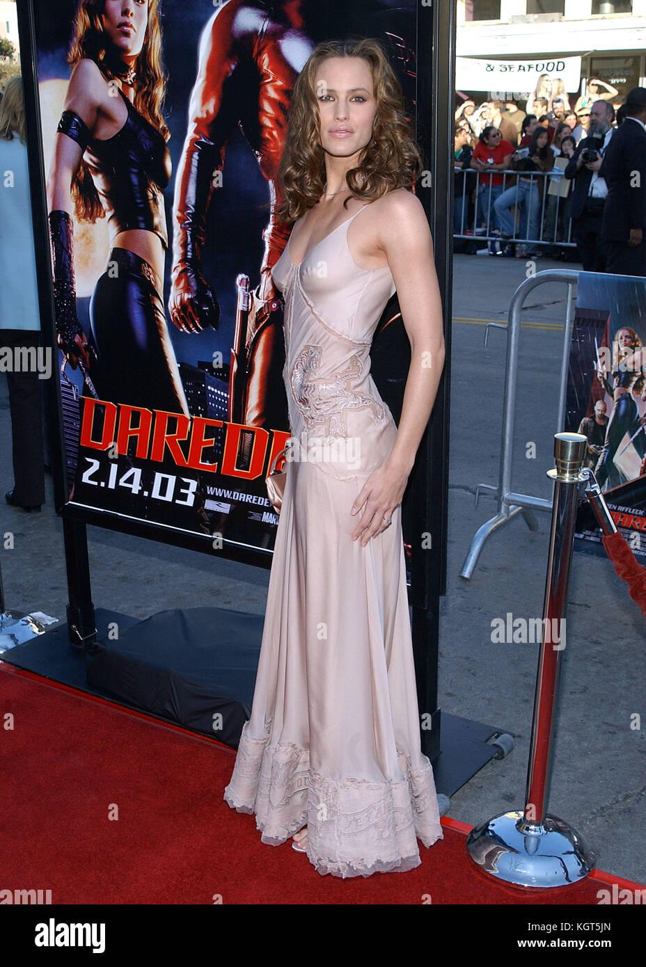 Jennifer Garner Daredevil Premiere Daredevil 2003 ...