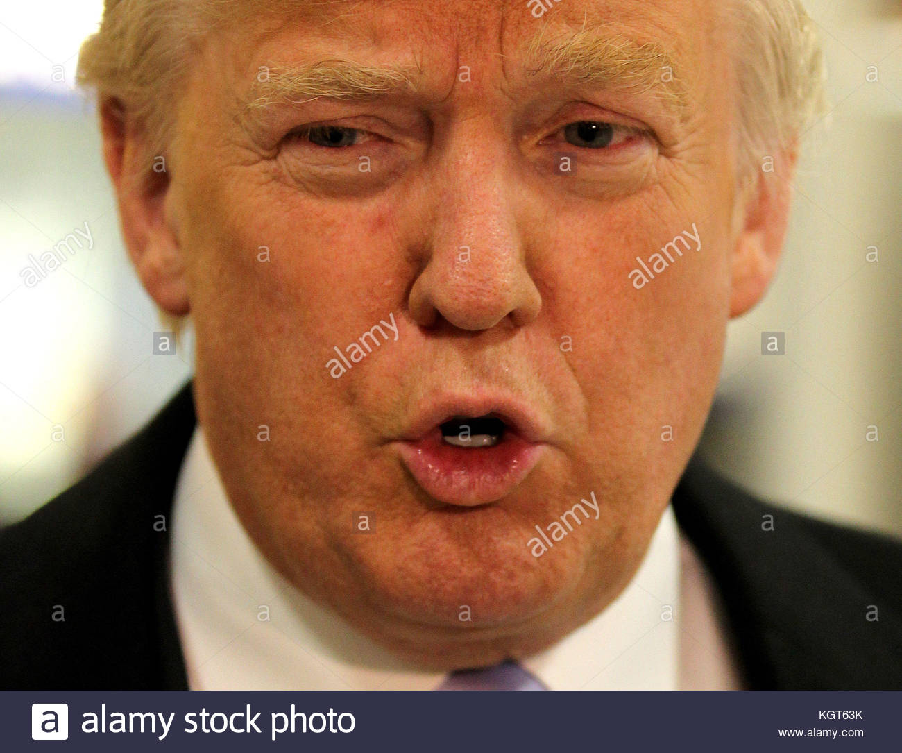File photo dated 22/04/12 of Donald Trump, as Commons Speaker John Bercow said he has still not earned the right - Stock Image