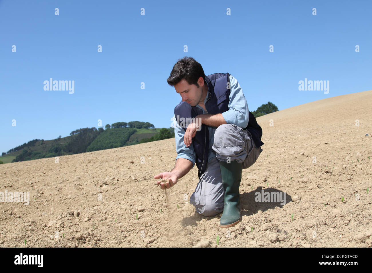 Environmental issues and lack of water - Stock Image
