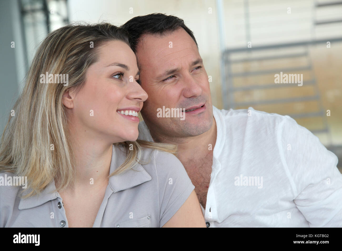 Portrait of in loved couple Stock Photo