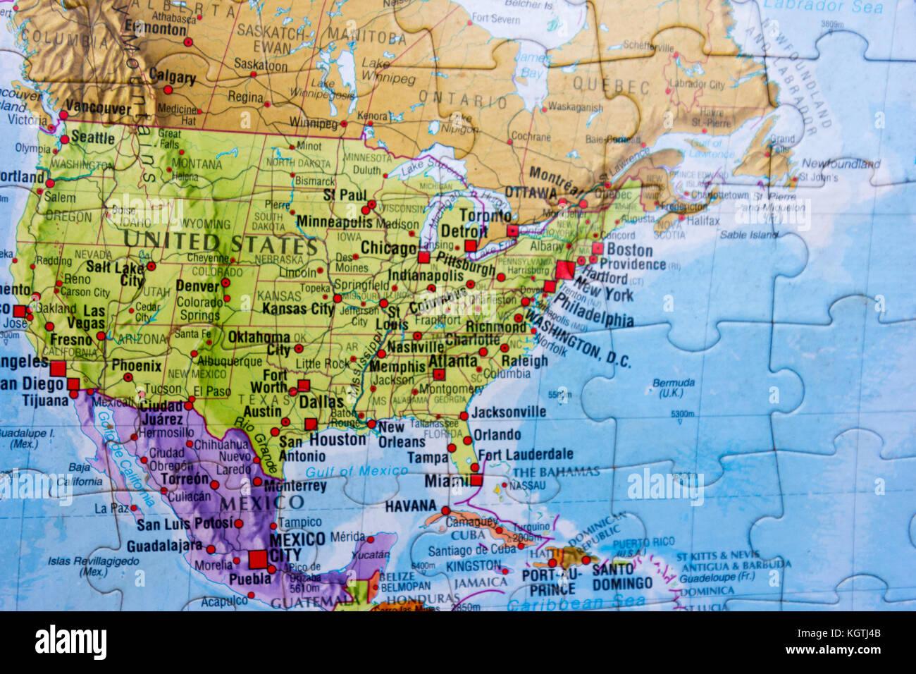 World map puzzle Stock Image Map