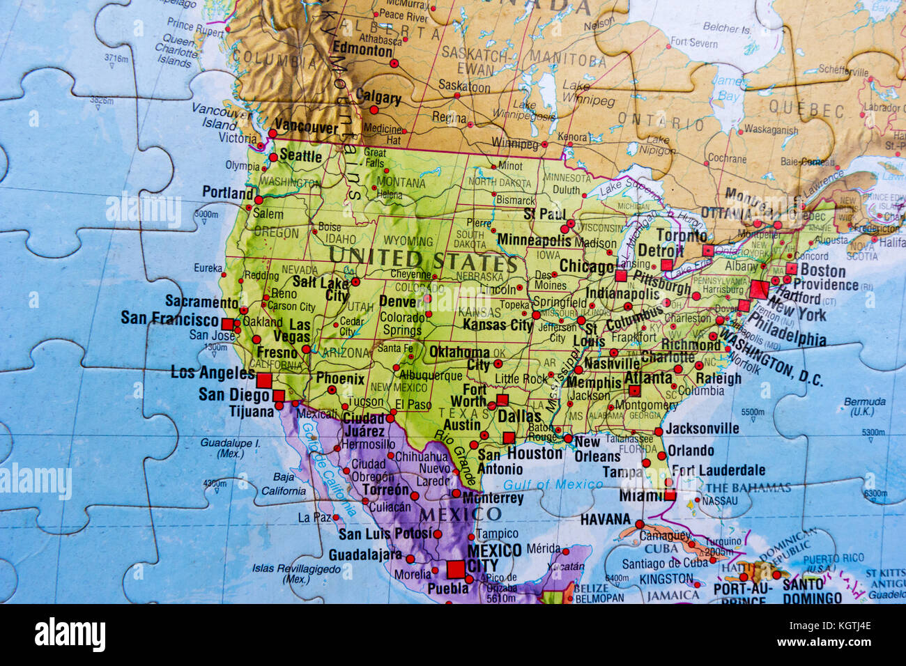 World map puzzle Stock Image World