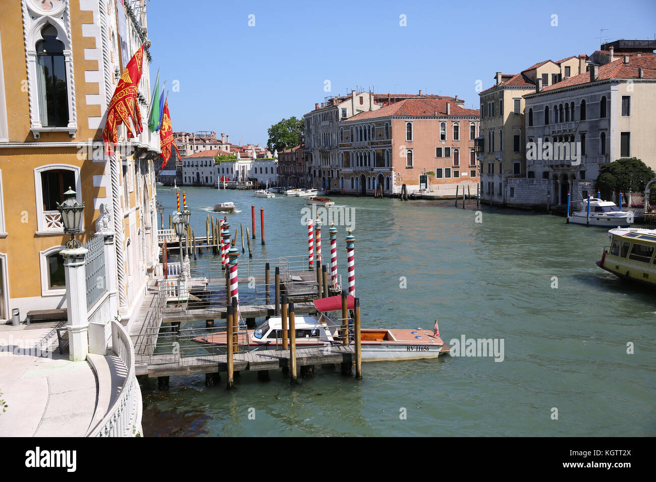 View of Canal grande from the Academia bridge Stock Photo