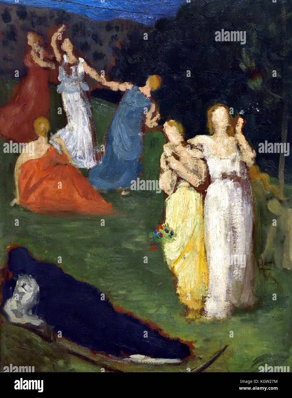 Death and the Maidens 1872 Puvis de Chavannes, 1824 -1898, France ,French - Stock Image