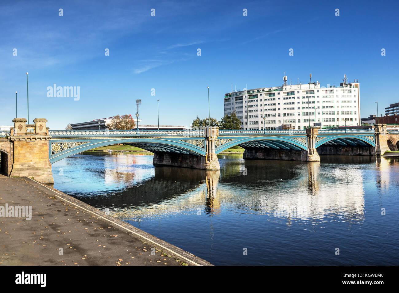 Trent Bridge Nottingham - Stock Image