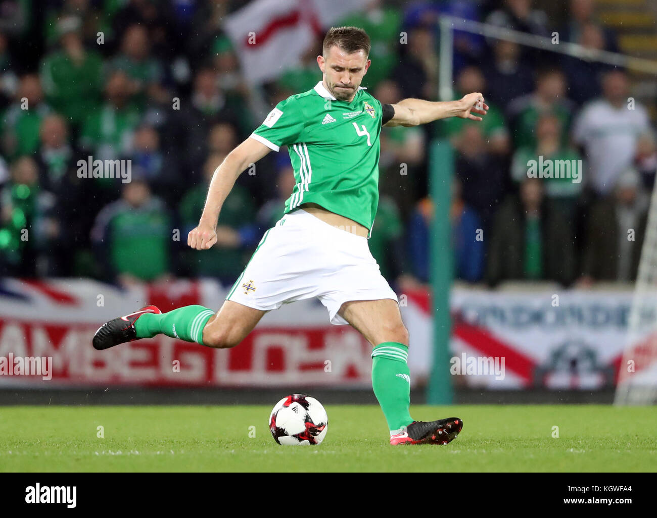 Northern Ireland's Gareth McAuley during the 2018 World Cup Qualifying Play-Off, First Leg match at Windsor - Stock Image