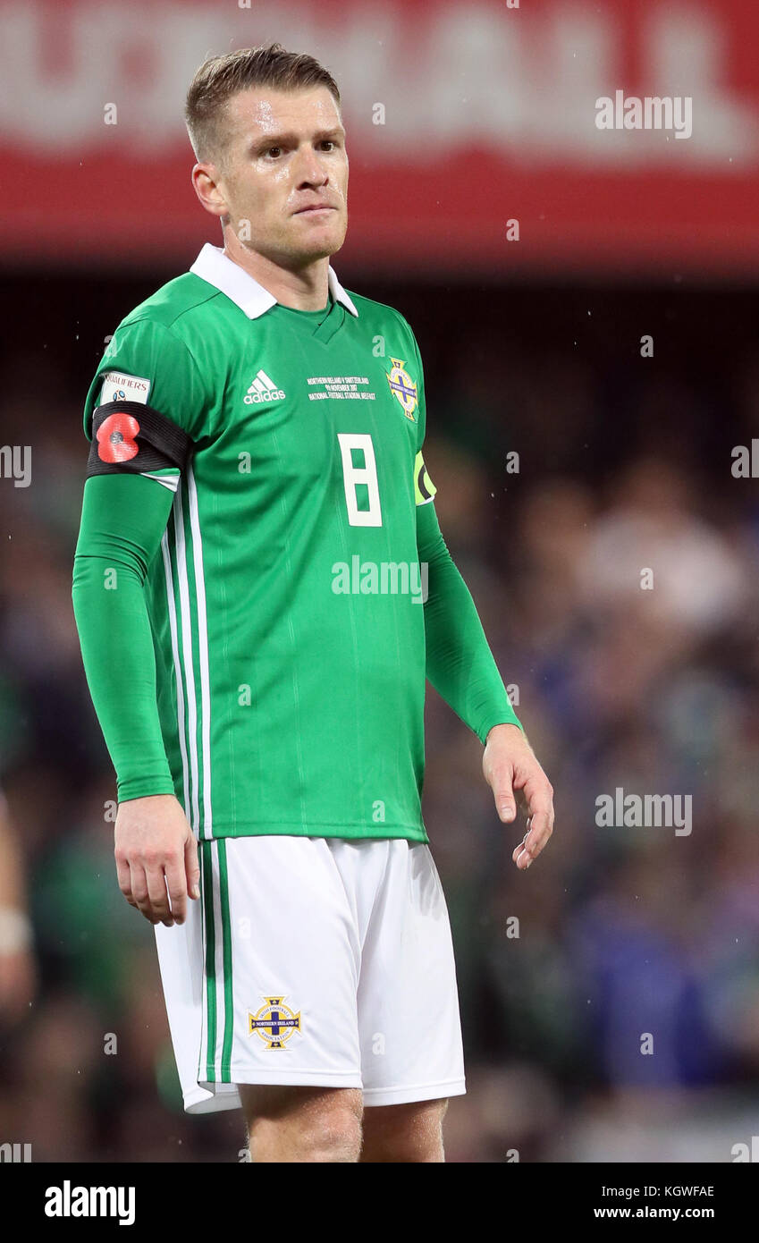 Northern Ireland's Steven Davis during the 2018 World Cup Qualifying Play-Off, First Leg match at Windsor Park, - Stock Image