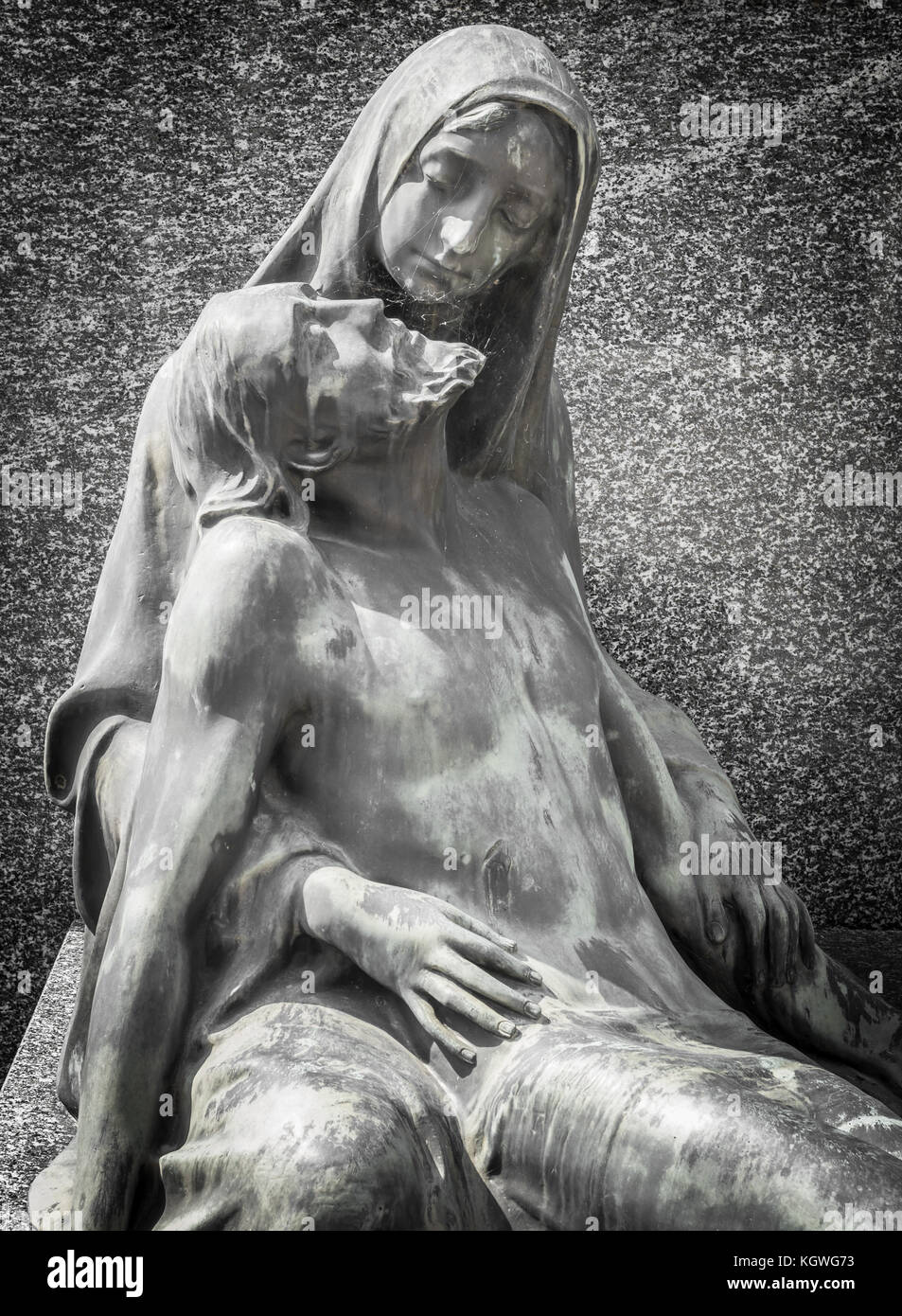Marble statue representing the pity of Christ - Stock Image