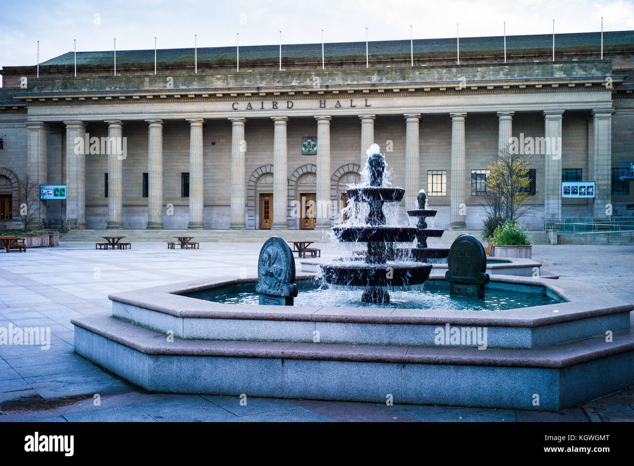 Caird Hall Dundee - concert venue in Dundee, Scotland. Opened in 1923 it was named after its benefactor, Dundee - Stock Image