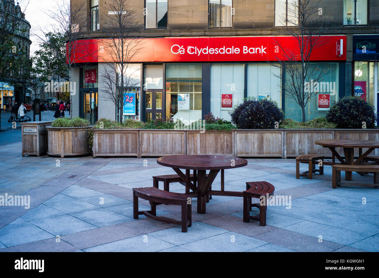Clydesdale Bank branch Dundee -   Clydesdale Bank is a Scottish commercial bank. Formed in Glasgow in 1838. - Stock Image
