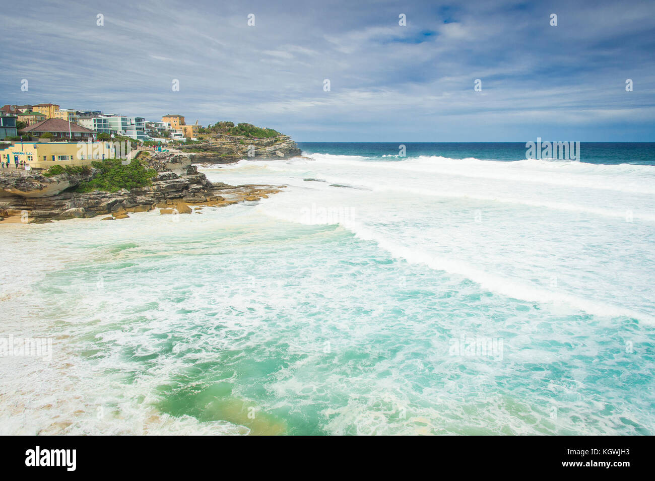 Dangerous surf conditions at Tamarama Beach in Sydney, NSW