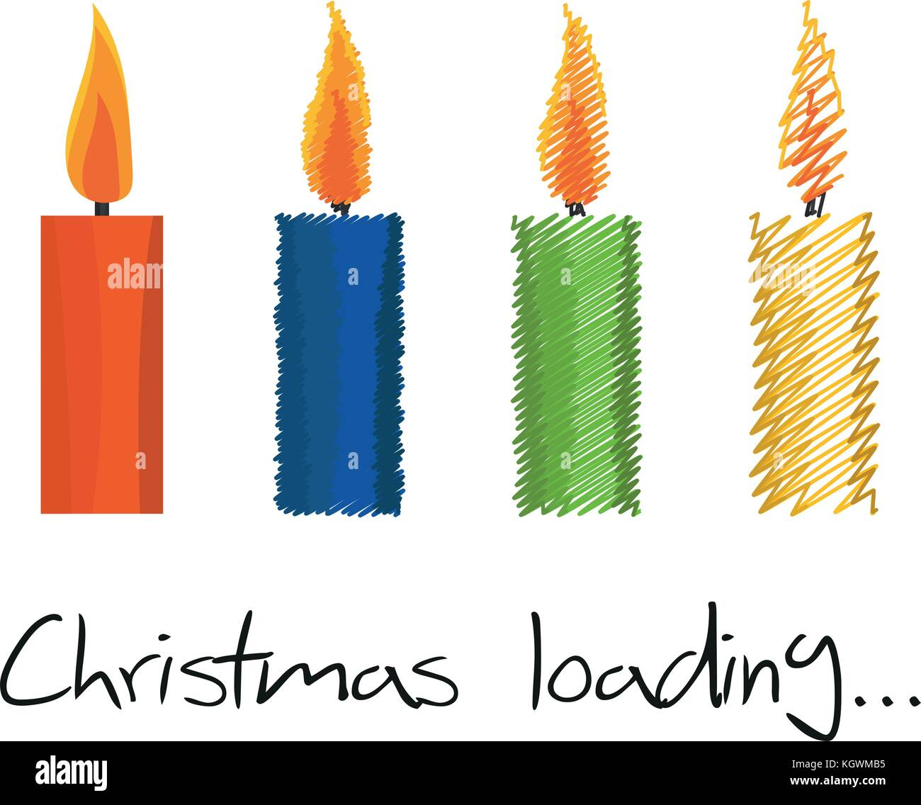Illustration Christmas Loading Candle for the creative use in graphic design - Stock Vector
