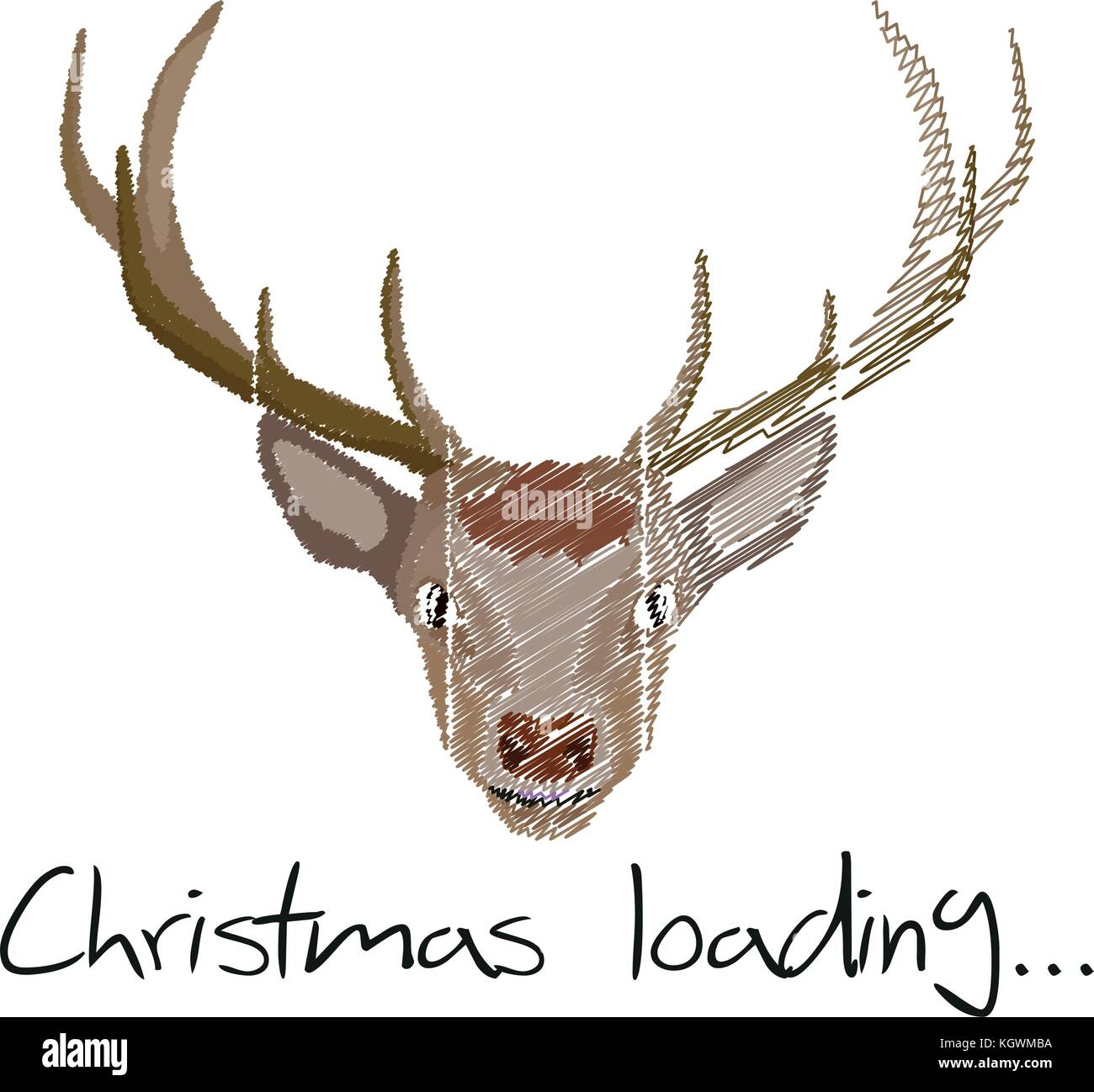Illustration Christmas Loading Reindeer for the creative use in graphic design - Stock Vector