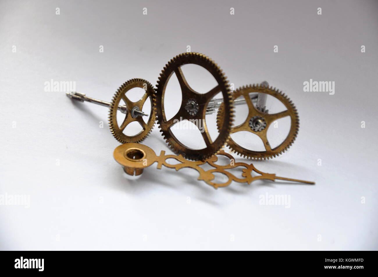 clock spares antique cog wheels - Stock Image