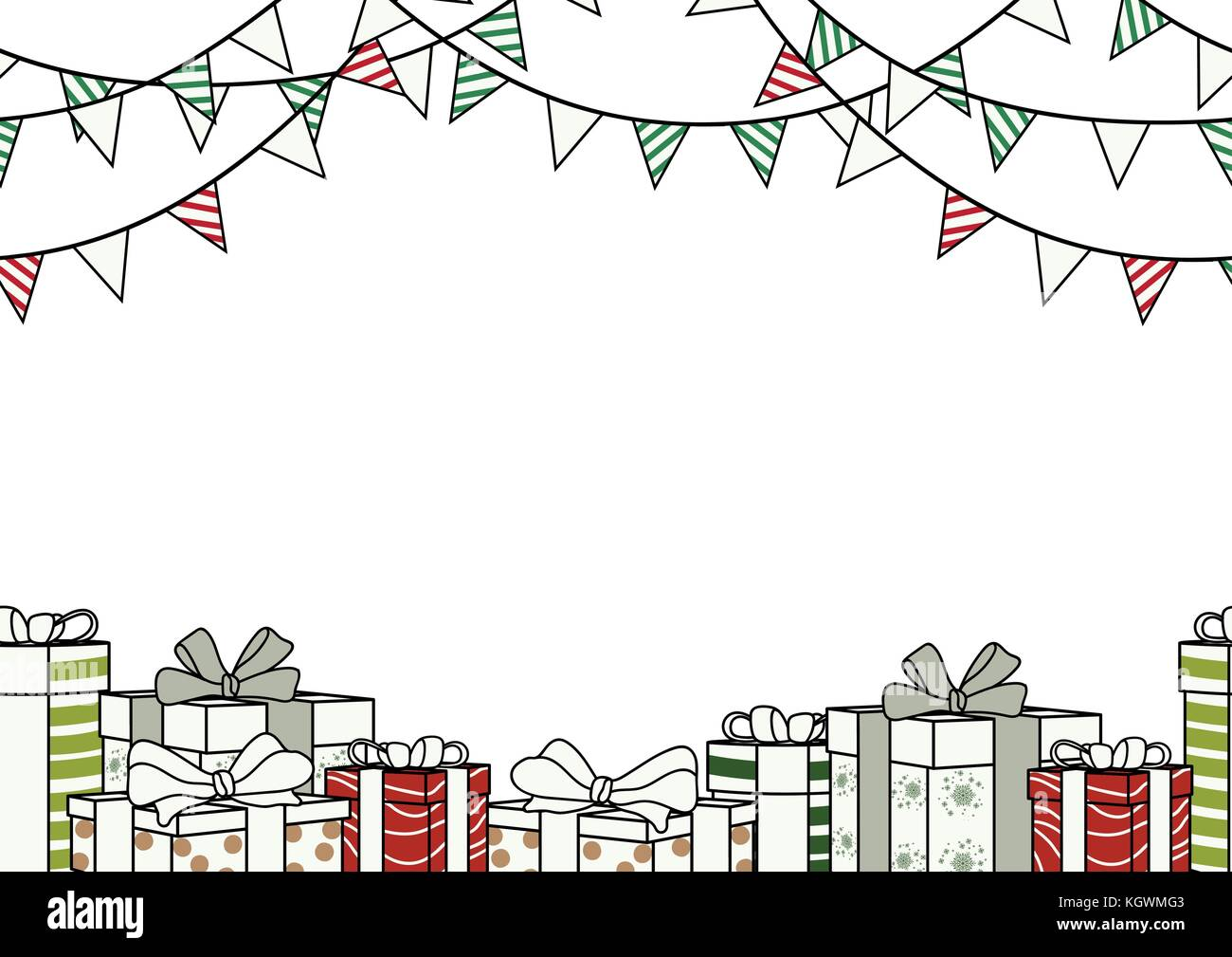 poster design for christmas new year or party in simple flat style with blank space for text seamless background design in colorful with party flag