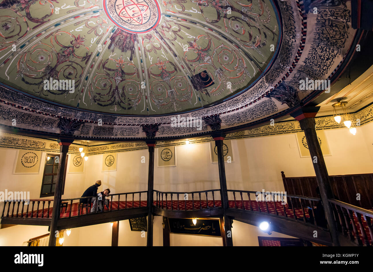 Whirling Dervishes at the Mevlevi in Bursa. - Stock Image