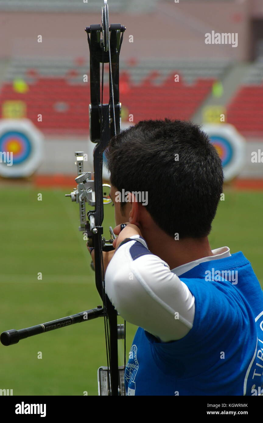 Archery Contest in Central America - Stock Image