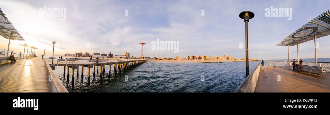 Steeplechase Pier at Coney Island in Brooklyn, New York, NY, United States of America. Stock Photo