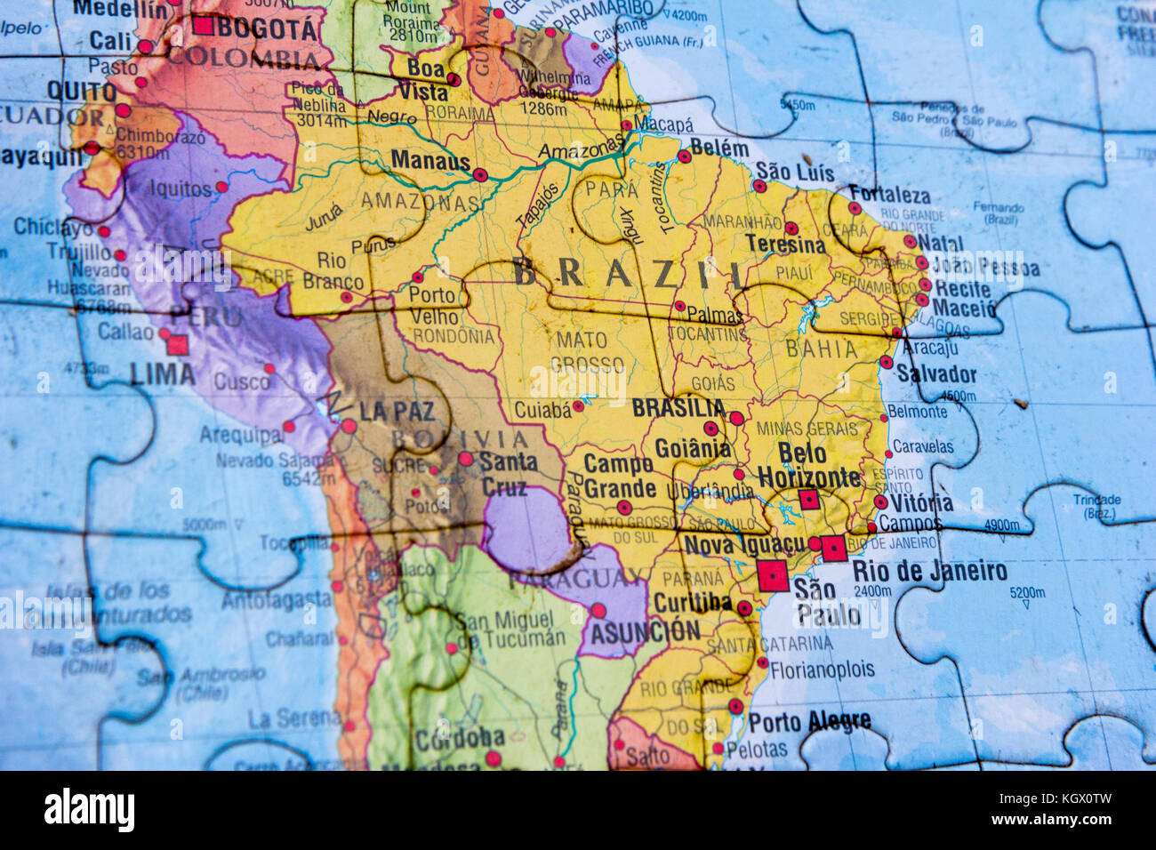 World map puzzle Stock Image Map
