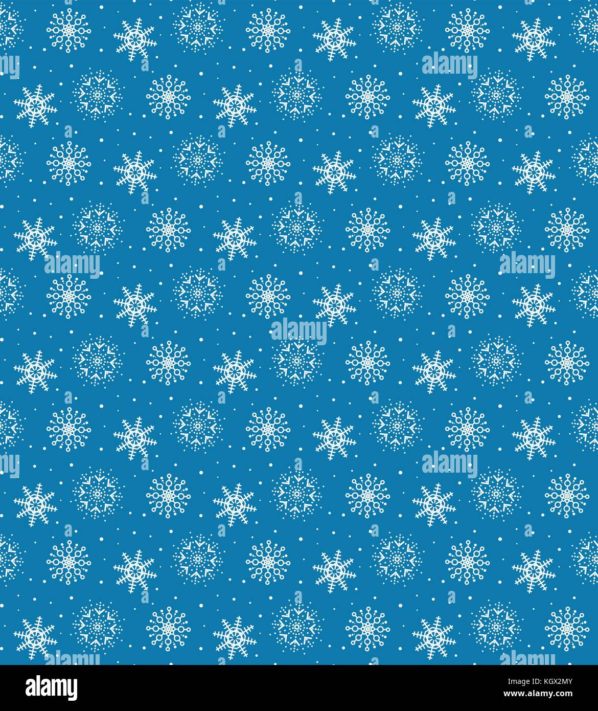 seamless pattern of many white snowflakes on blue background christmas winter theme for gift wrapping new year seamless background for website