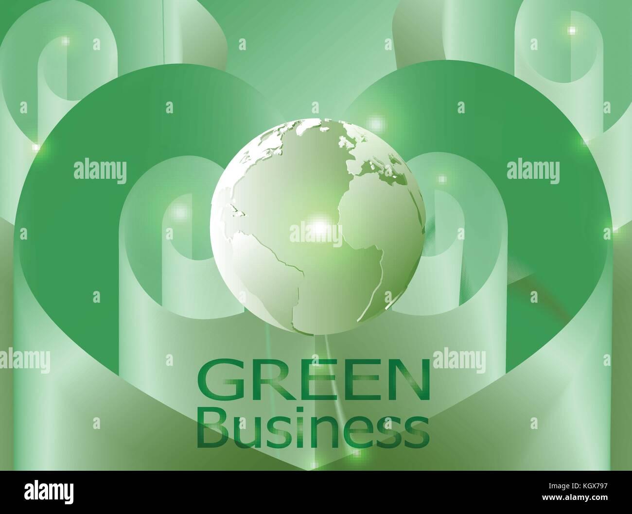 green business background vector. it can be applied for kinds of media presentation such as background,backdrop,illustration,poster,printing Stock Vector