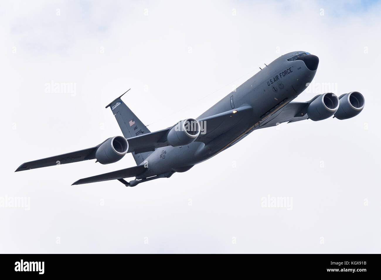 A Boeing KC-135 Stratotanker tanker aircraft of the 157th Air Refueling Wing of the New Hampshire Air National Guard - Stock Image