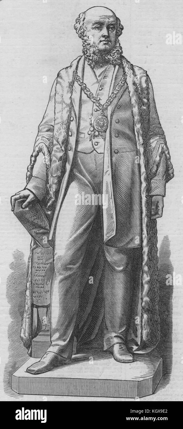 Barrow-in-Furness Mayor J. Ramsden 1872. The Illustrated London News - Stock Image