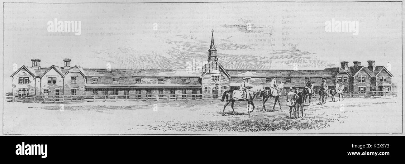 The Falmouth House stables. Newmarket 1891. The Illustrated London News - Stock Image