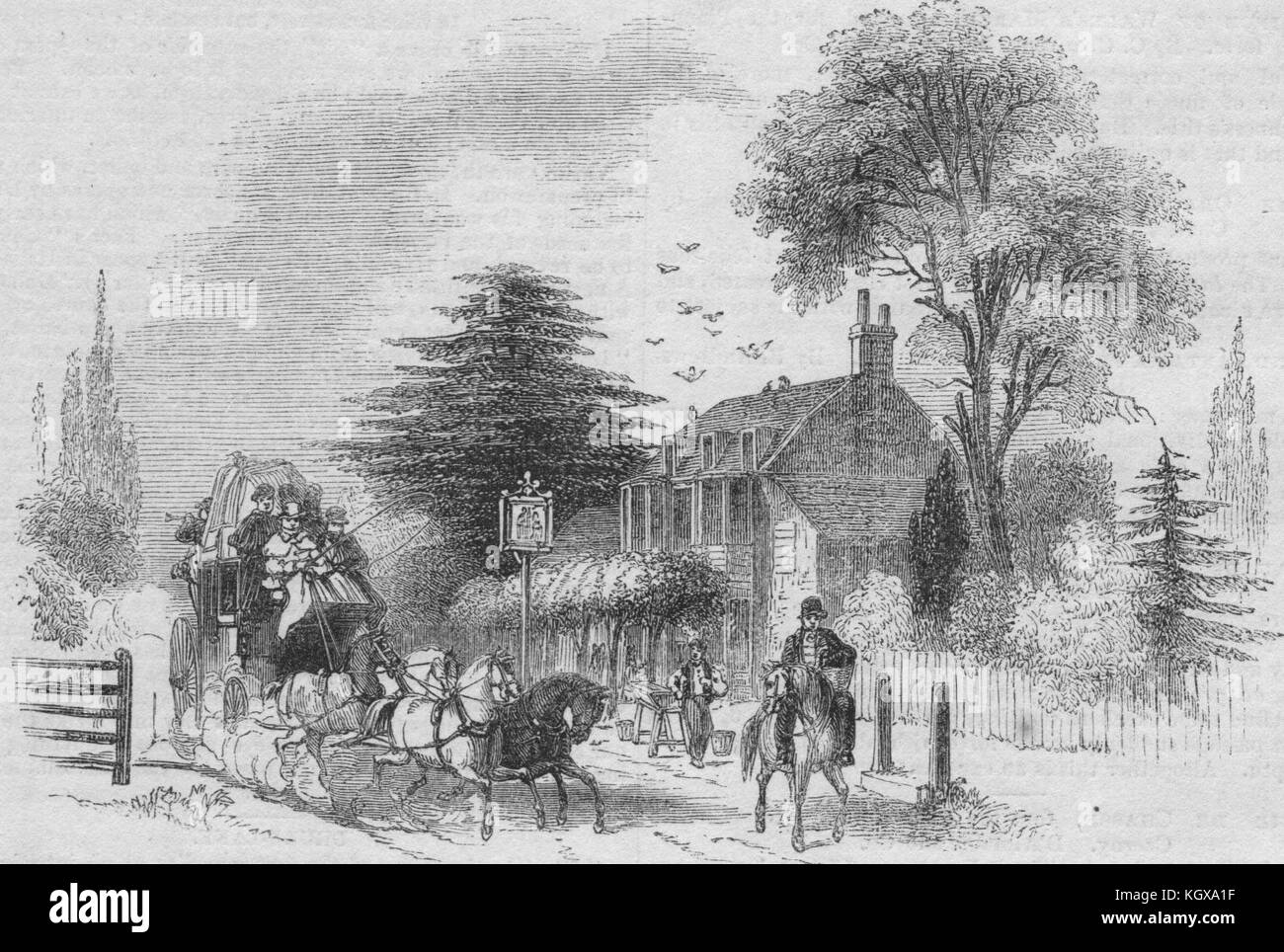 Gad's Hill. Kent 1843. The Illustrated London News - Stock Image