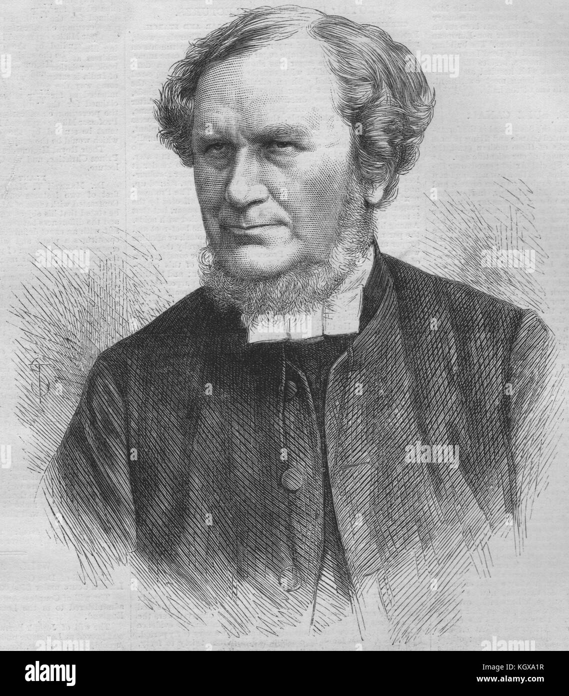 The Right Rev. Dr. Mackenzie, Suffragan Bishop of Nottingham 1870. The Illustrated London News - Stock Image