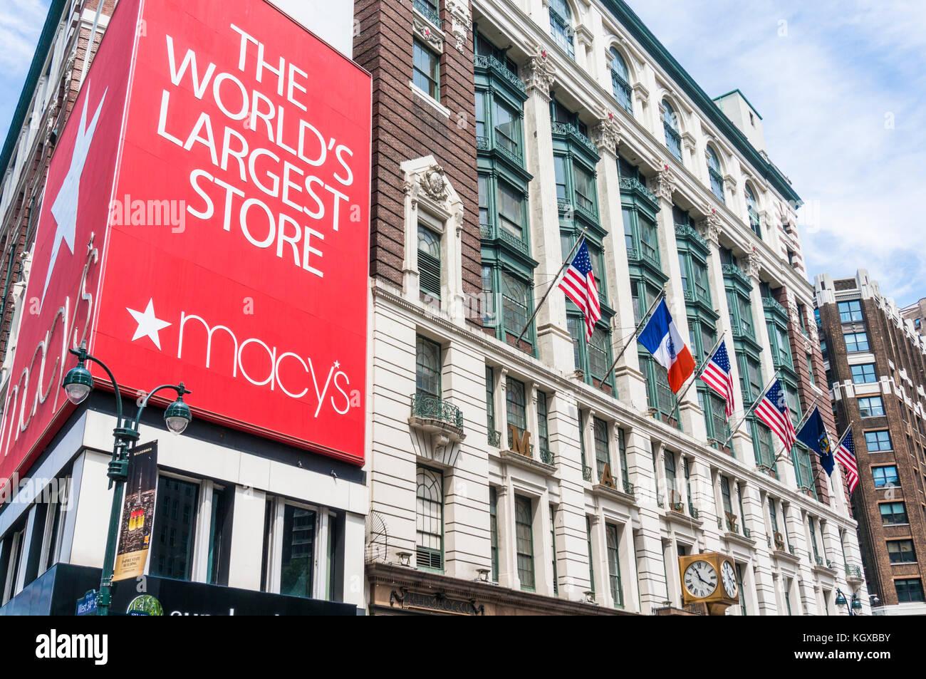 Macys New york usa new york macys department store Macy's Herald Square flagship of Macy's department store - Stock Image