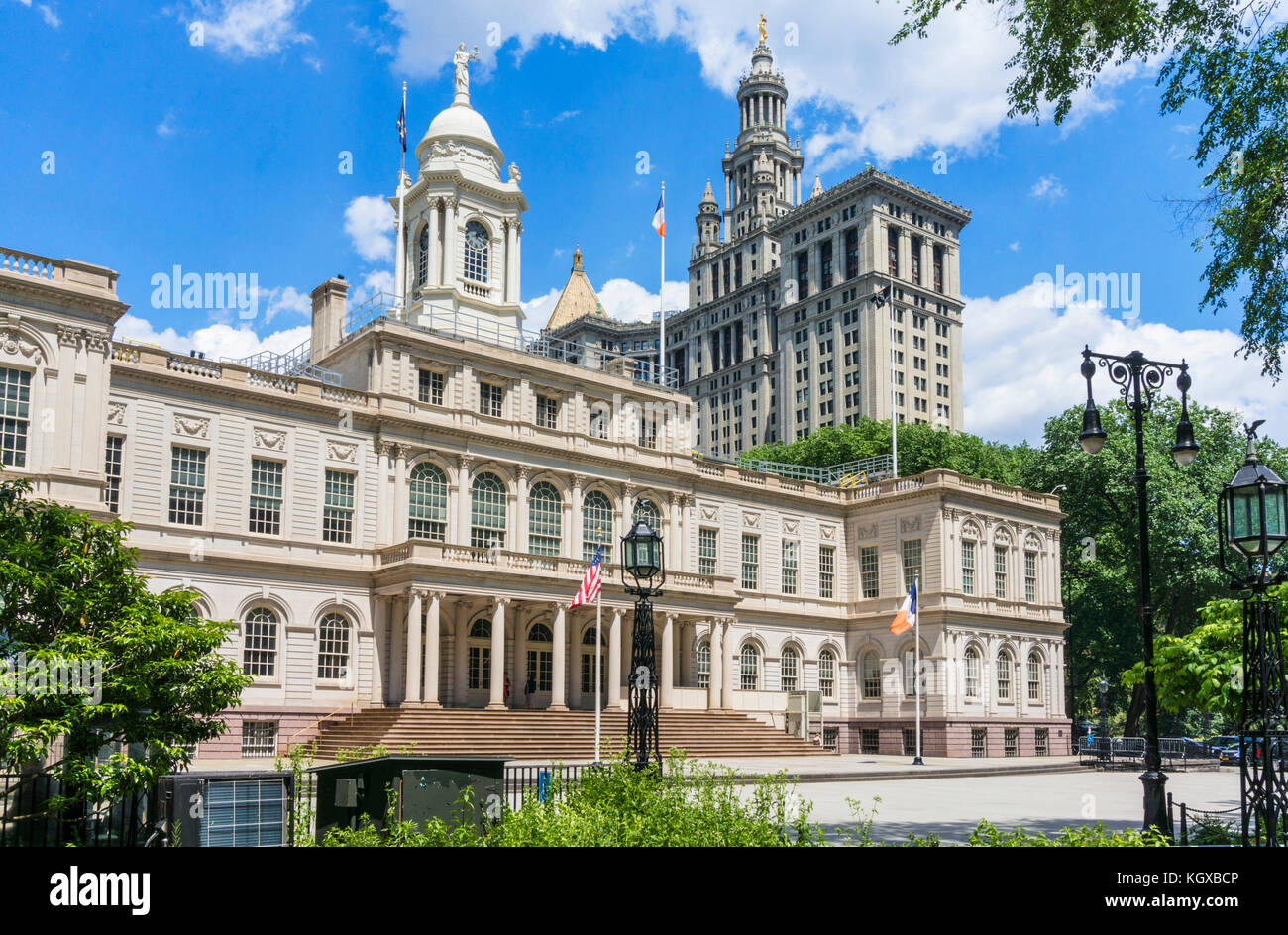 new york city hall New york usa new york New York City Hall New York City government offices city hall park Manhattan - Stock Image