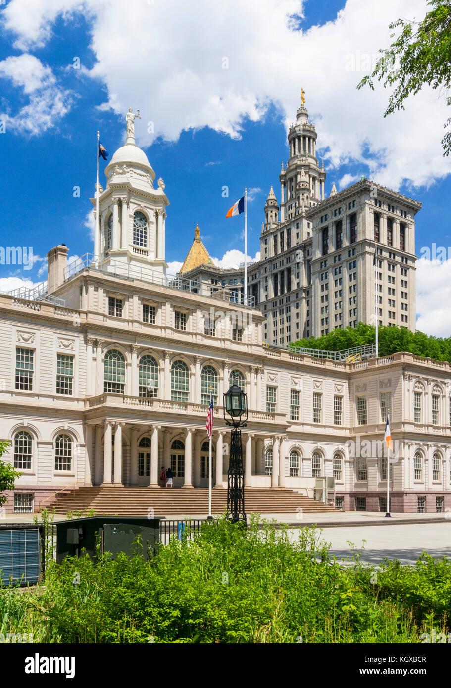 New york usa new york New York City Hall New York City government offices city hall park Manhattan New York United - Stock Image