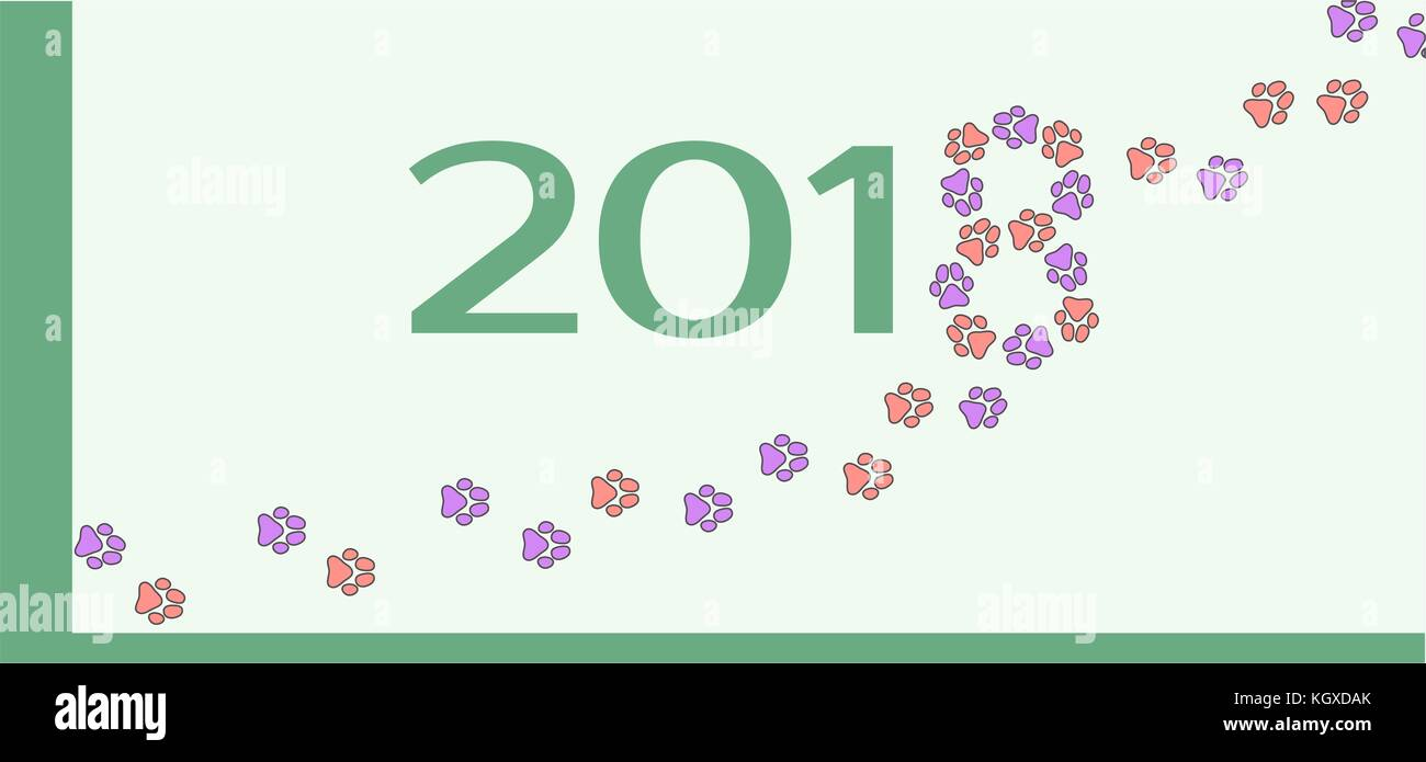 Template for the dog year. - Stock Vector