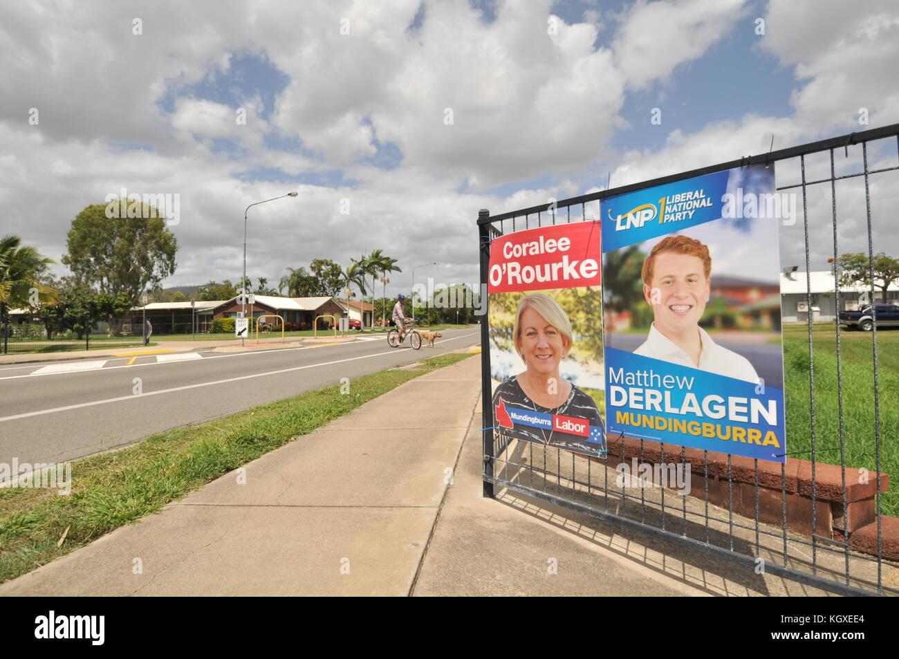 Townsville, Queensland, Australiauueensland elections - Stock Image