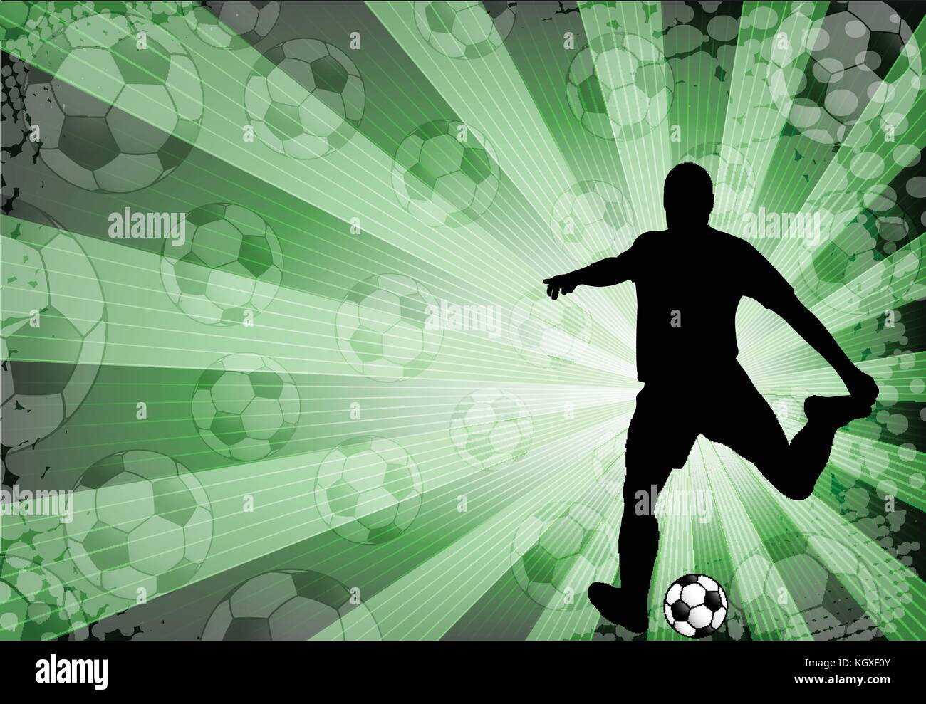 soccer player on the abstract background - vector - Stock Image