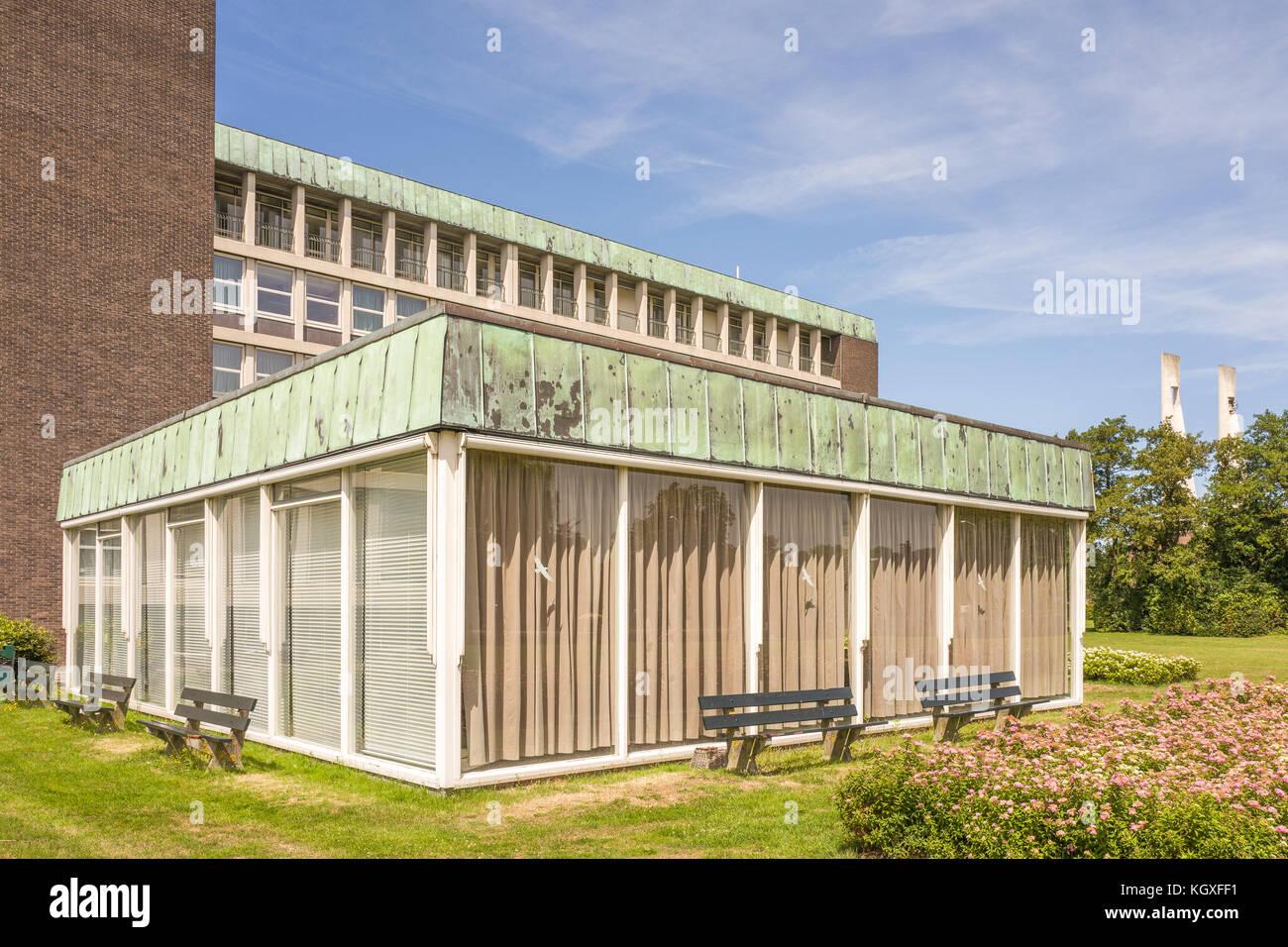 NETHERLANDS - VOORBURG - JULY 9, 2017: Hospital building Reinier de Graaf Hospital in Voorburg. - Stock Image