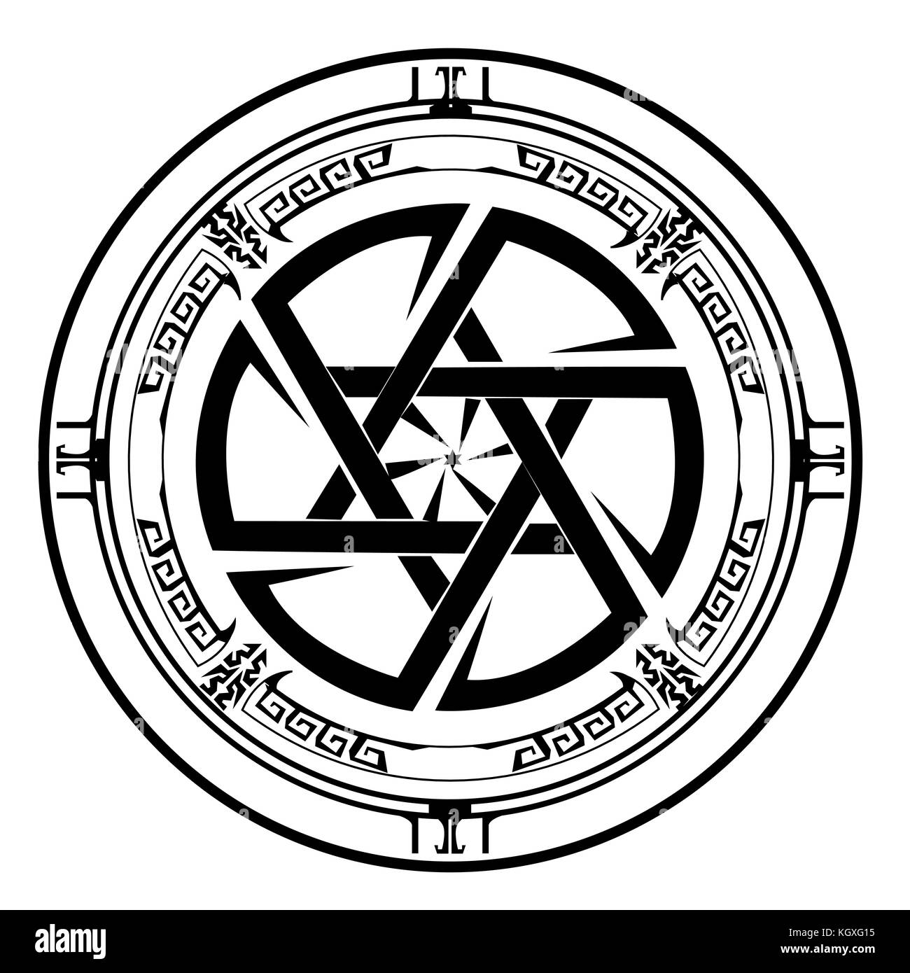 Star of David , Shield of David , Magen David , vector illustration , icon Stock Vector