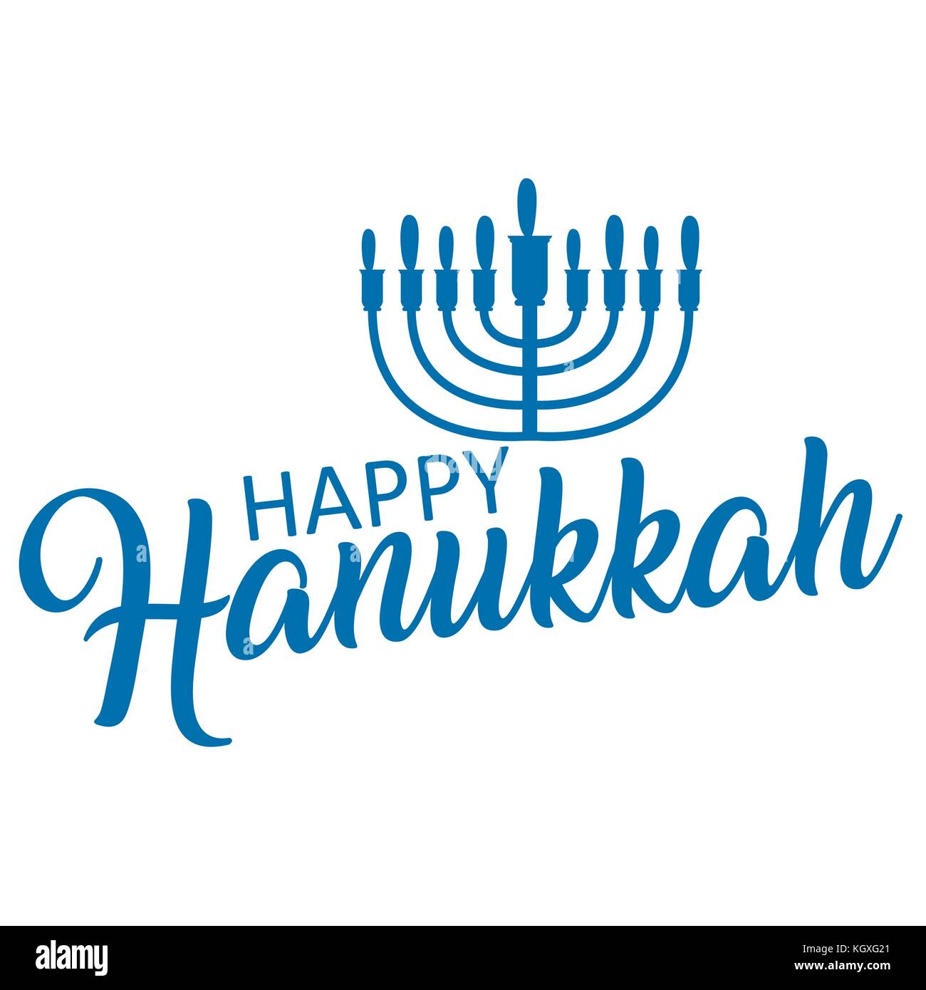 Lettering of happy Hanukkah logo template. - Stock Vector