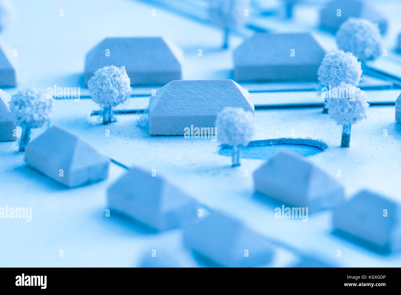 Architecture and Urban Planning Model - Stock Image