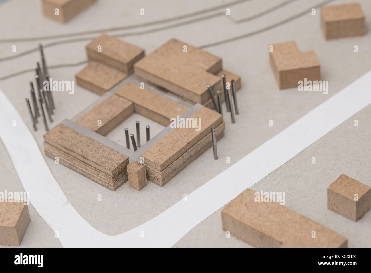 Architecture and Urban Planning Model Stock Photo