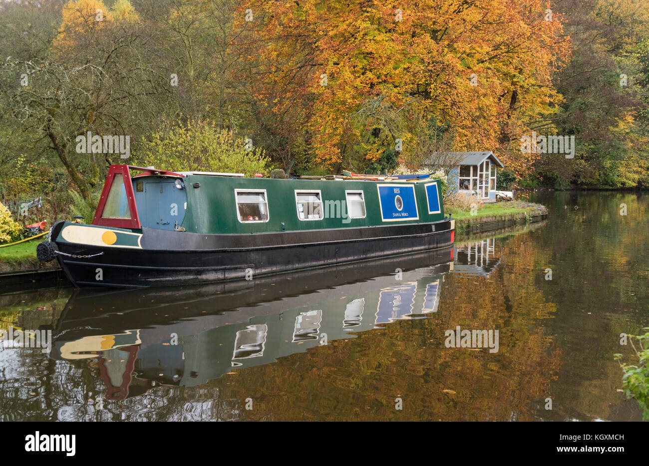 Staffs and Worcester Canal near Wolverley, Staffordshire, England, UK - Stock Image