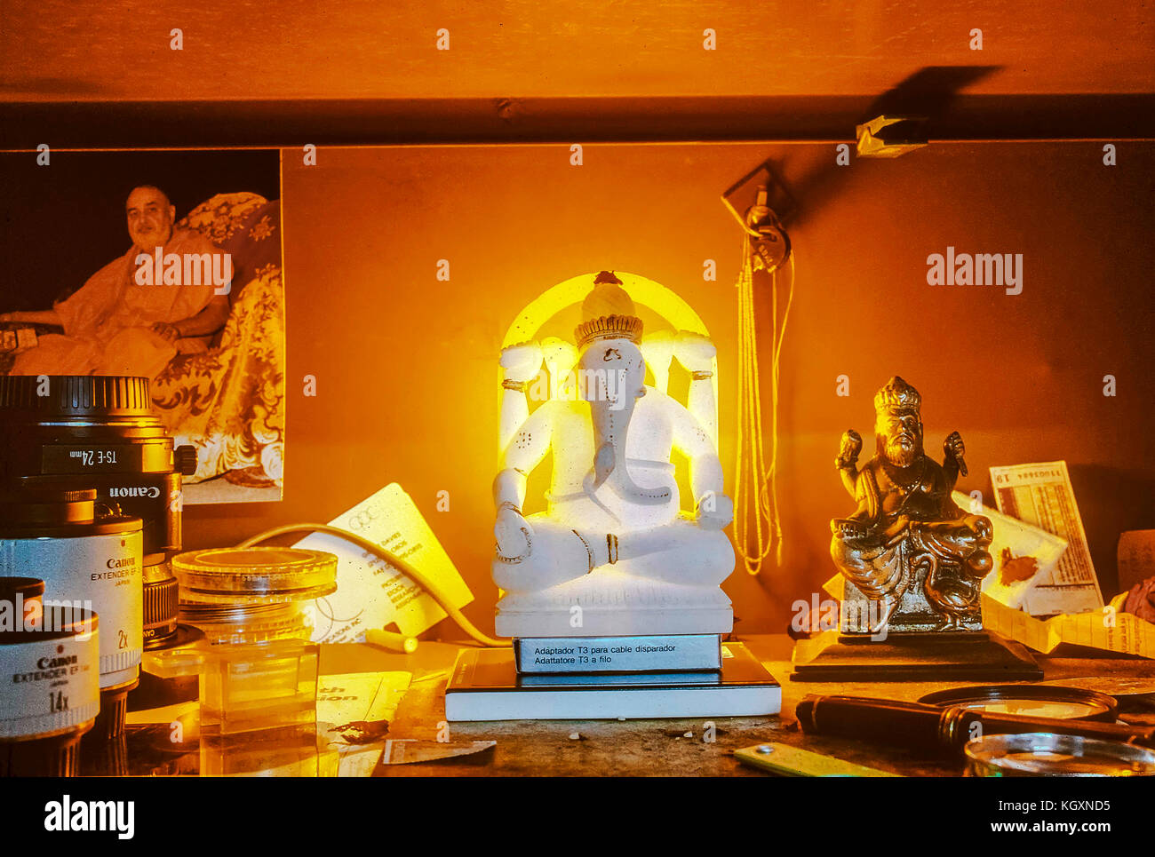 Ganesha statue, India, Asia, 1992 - Stock Image