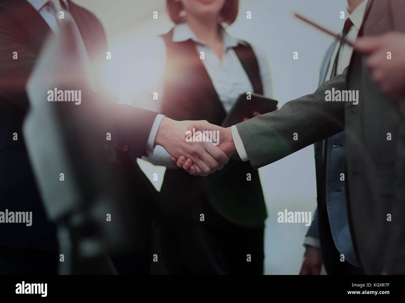 Business People Meeting Discussion Corporate Handshake Concept - Stock Image