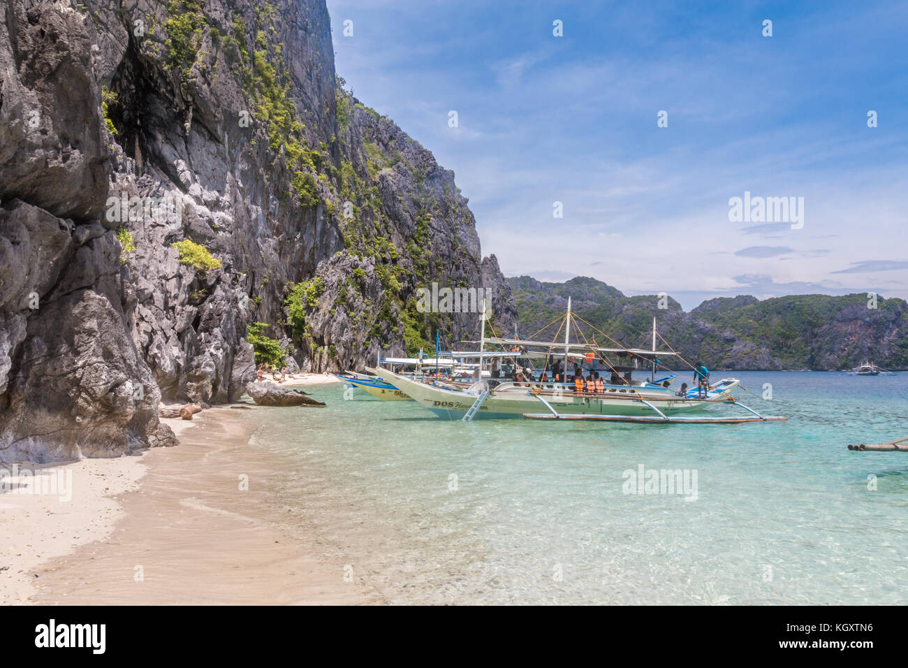 Beach in El Nido Palawan Island Philippines - Stock Image
