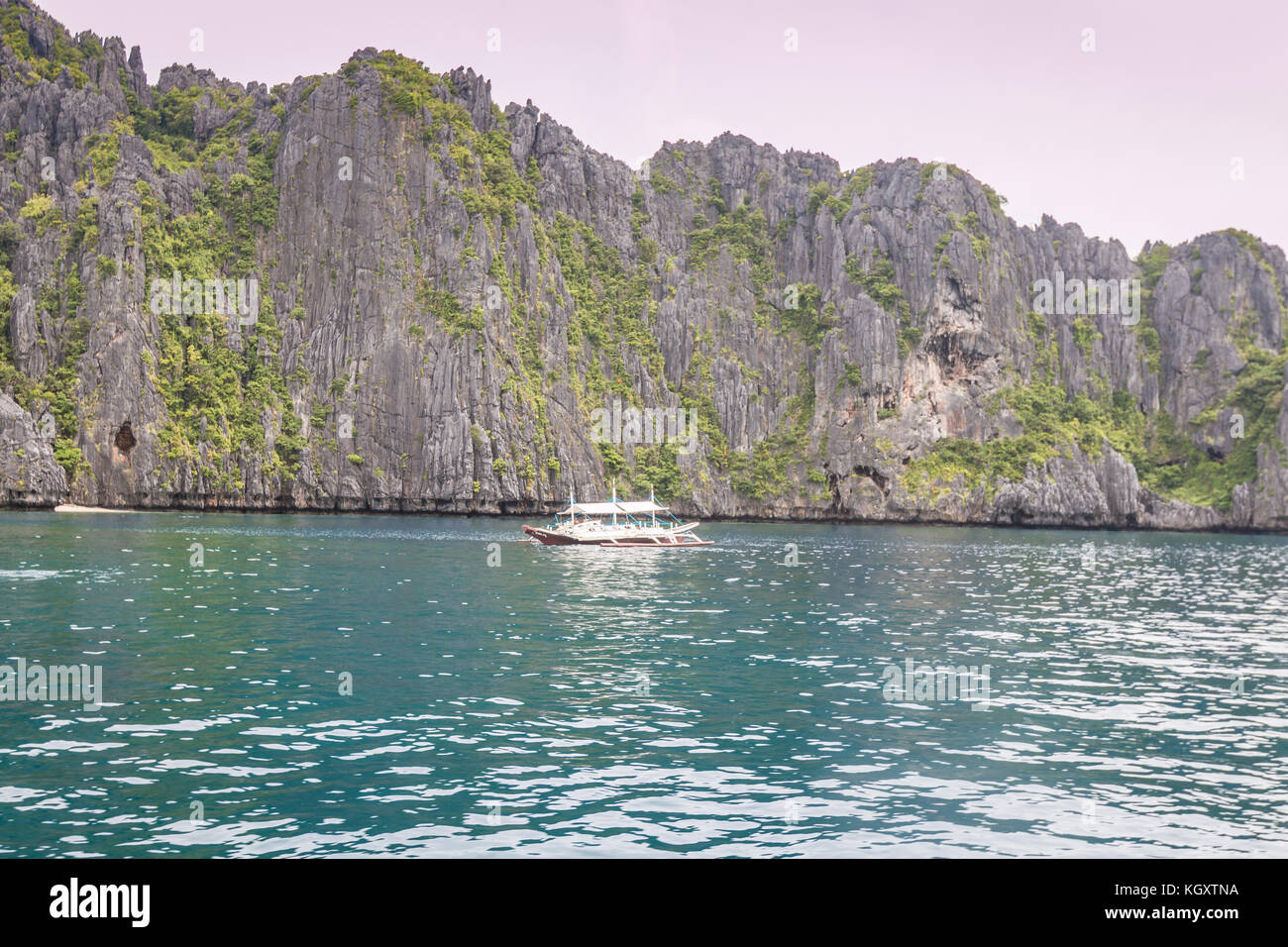 Rocks in El Nido Palawan Philippines - Stock Image