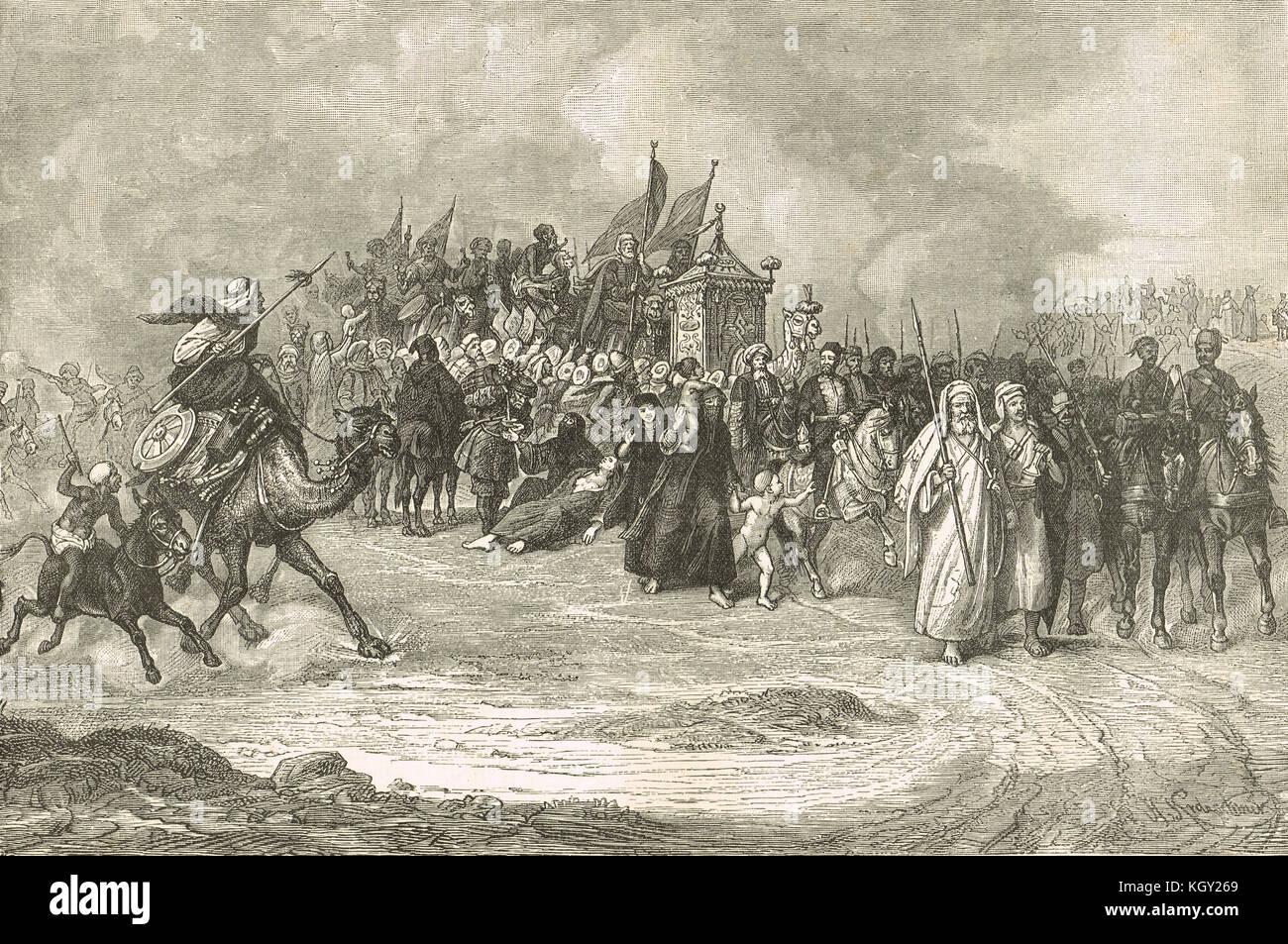 Return of the Pilgrims, Egypt, 1882 - Stock Image