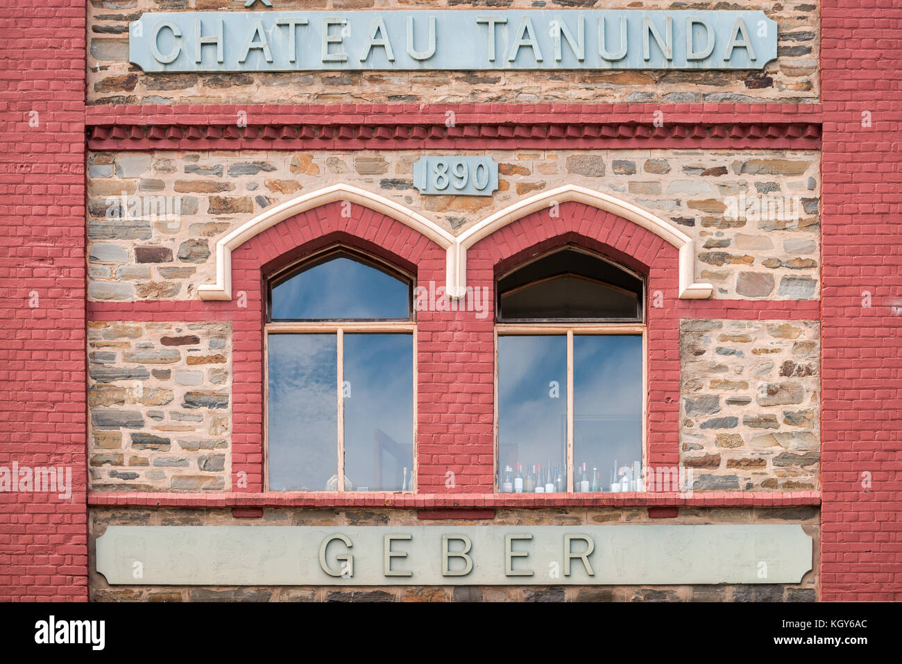 Barossa Valley, Australia - January 16, 2016: Chateau Tanunda  vintage winery on a bright day. It was established Stock Photo