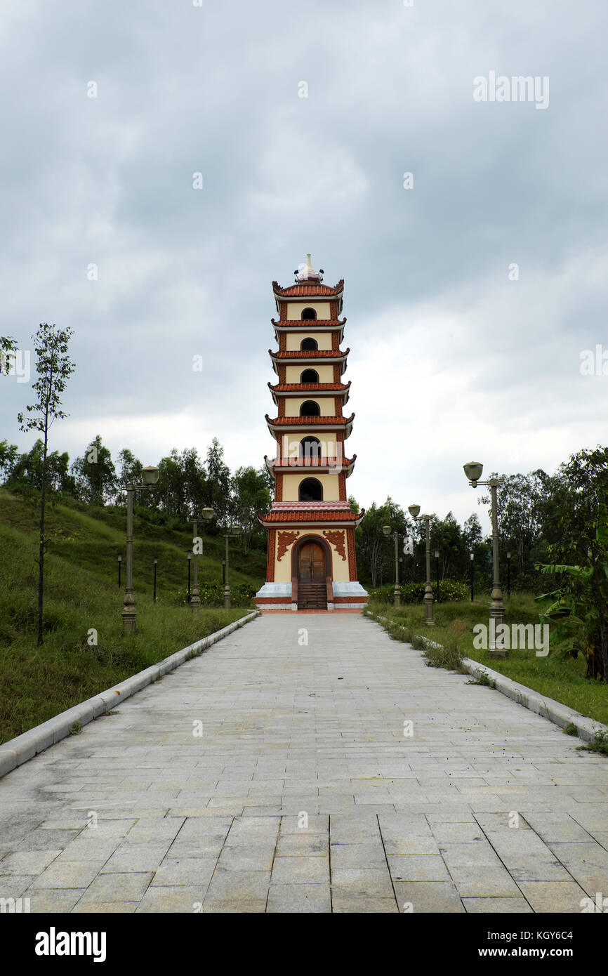 BINH DINH, VIET NAM, Historical place at Tay Son inherent in Nguyen Hue hero, temple on An mountain top for sacrifices - Stock Image